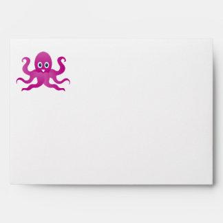 Fun purple octopi envelope