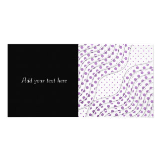 Fun Purple Polka Dot Design Card