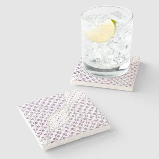 Fun Purple Polka Dots Stylish Modern Design Stone Beverage Coaster