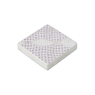 Fun Purple Polka Dots Stylish Modern Design Stone Magnet