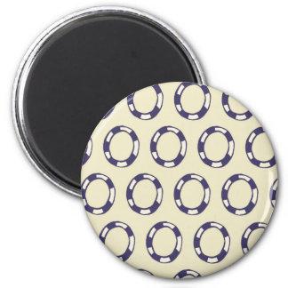 Fun Purple White Circle Life Preservers Pattern Magnet