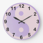 Fun Purple Yin Yang Round Wall Clocks