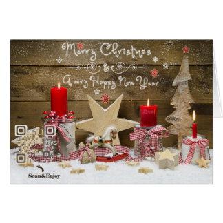 Fun QR-code Christmas tree musical video card