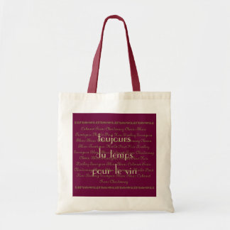"Fun Quote  ""Always time for some wine"" Wine Label Budget Tote Bag"