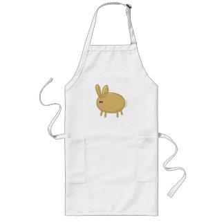 Fun Rabbit on White Long Apron