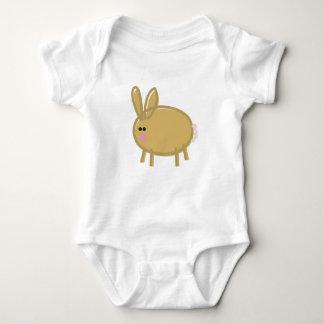 Fun Rabbit on White Shirt