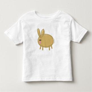 Fun Rabbit on White T Shirt