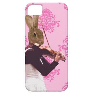 Fun rabbit playing violin iPhone 5 cover