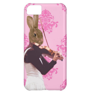 Fun rabbit playing violin case for iPhone 5C