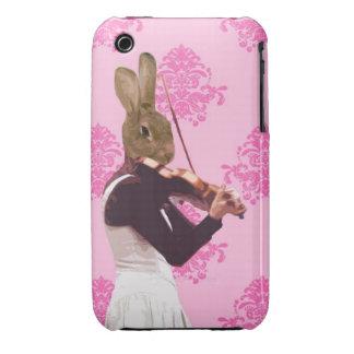 Fun rabbit playing violin Case-Mate iPhone 3 case
