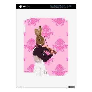 Fun rabbit playing violin iPad 3 decal