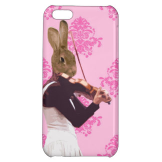Fun rabbit playing violin iPhone 5C cover