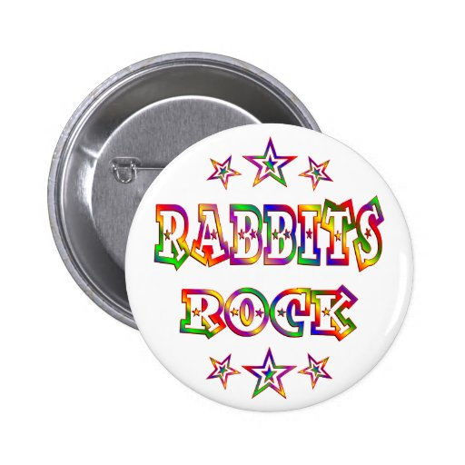 Fun Rabbits Rock 2 Inch Round Button