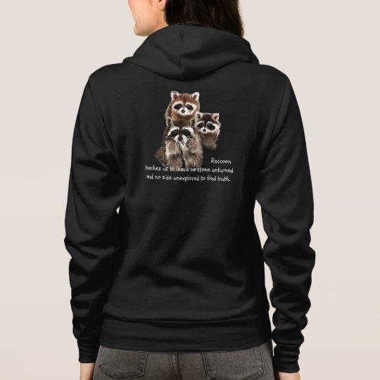 Fun Raccoon Animal Totem Hoodie