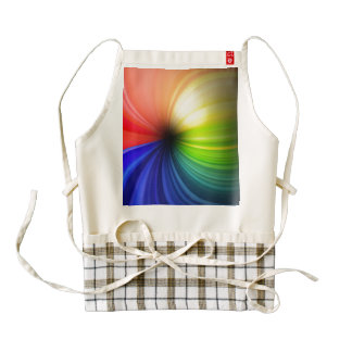 Fun Rainbow Art Zazzle HEART Apron