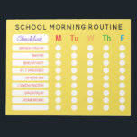 """Fun Rainbow Daily Routine Checklist Custom Chores Notepad<br><div class=""""desc"""">Customize with your child&#39;s morning routine. Delete the gradient to pick a background color to suit your taste. For kids you can use star stickers to mark off each circle as they get in the habit of their morning routine. Bold all caps text easy for young readers to read. Change...</div>"""