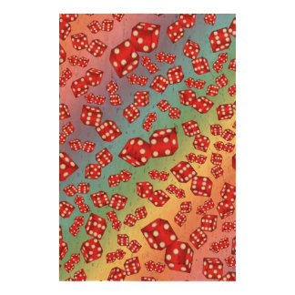 Fun rainbow dice pattern cork paper