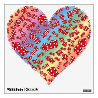 Fun rainbow dice pattern room graphics