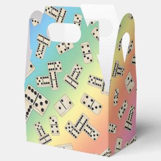 Fun rainbow domino pattern favor box
