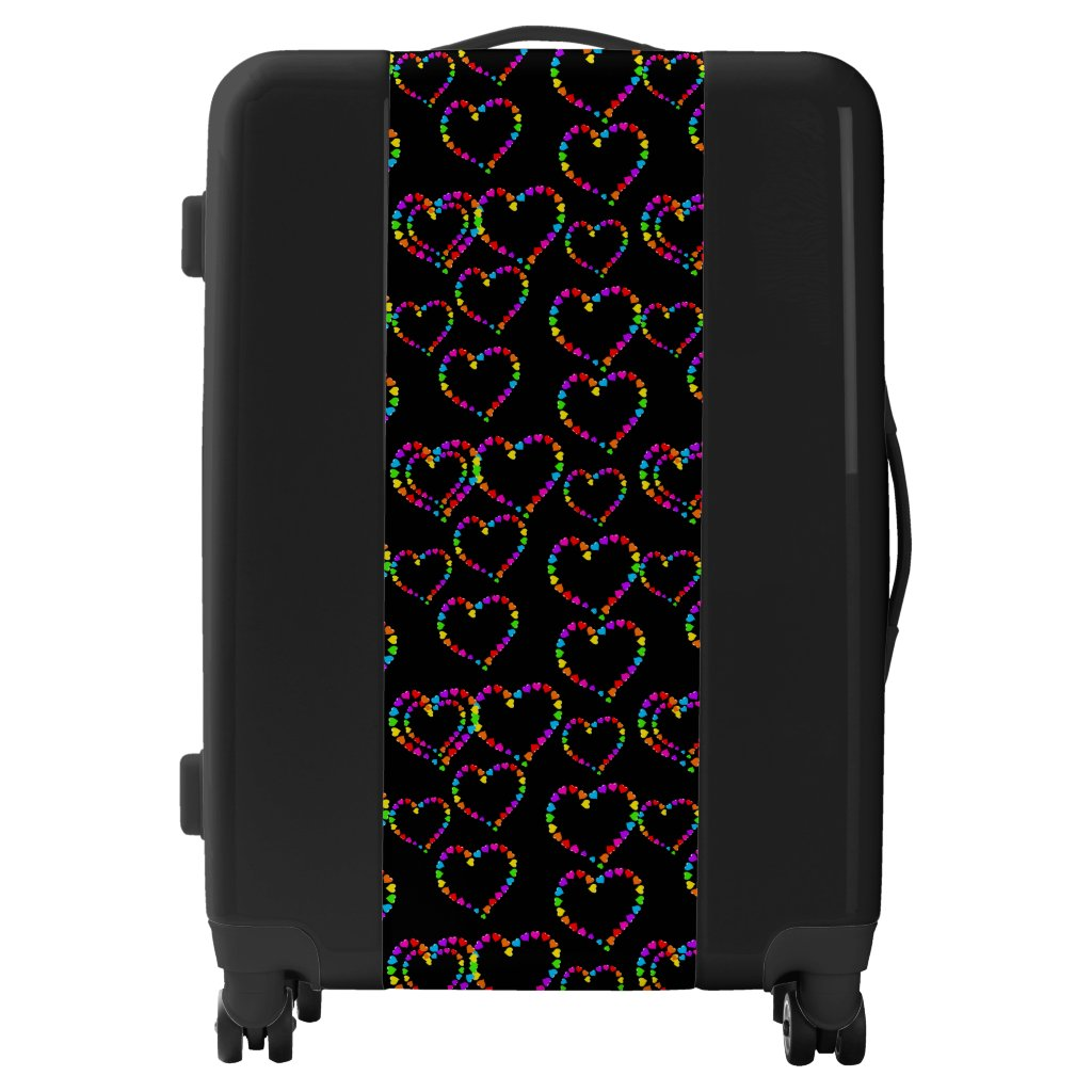 Rainbow Hearts Design Suitcase