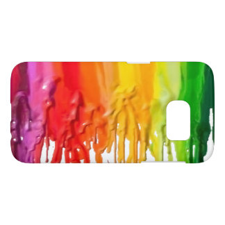 Fun Rainbow of Melting Dripping Crayons Samsung Galaxy S7 Case
