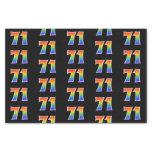 "[ Thumbnail: Fun Rainbow Spectrum Pattern ""71"" Event Number Tissue Paper ]"