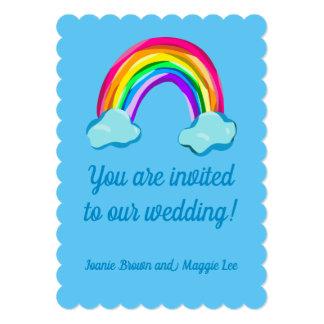 Fun Rainbow Wedding Invitation