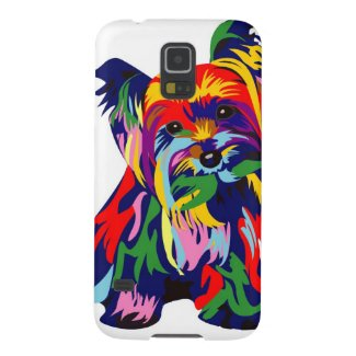 Fun Rainbow Yorkie Barely There Galaxy Phone Cover