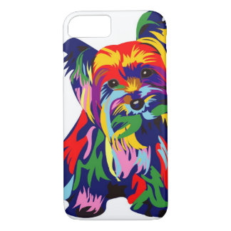 Fun Rainbow Yorkie iPhone 7 Case