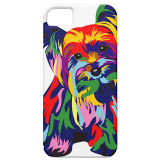 Fun Rainbow Yorkie iPhone SE/5/5s Case