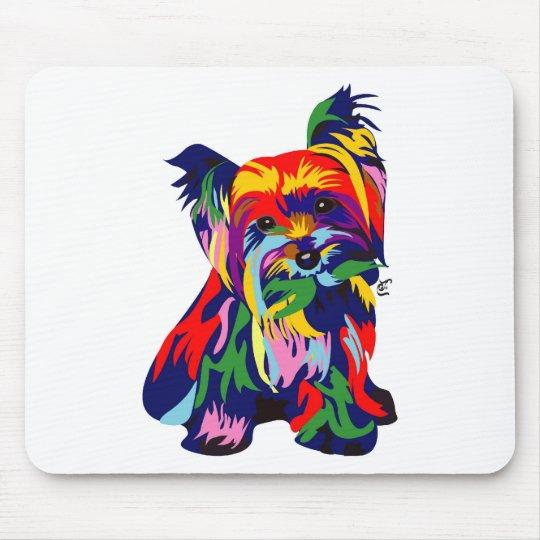 Fun Rainbow Yorkie Mouse Pad