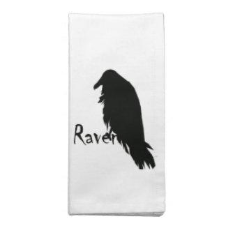 Fun Raven on Raven Napkins