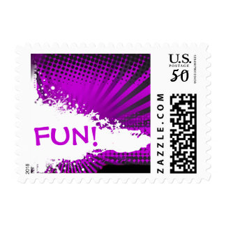 Fun Rays Grunge Splatter | purple Postage