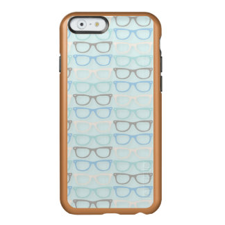 Fun Reading Glasses Pattern on Blue Incipio Feather® Shine iPhone 6 Case