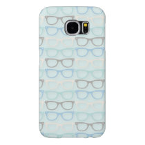 Fun Reading Glasses Pattern on Blue Samsung Galaxy S6 Case