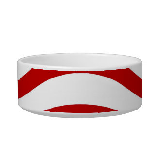 Fun Red and White Wavy Lines Stripes Pattern Gifts Bowl