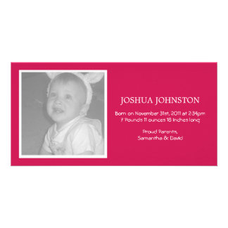 Fun Red Baby Announcements Photo Cards