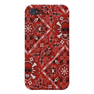 Fun Red Bandana Skull Speck Case iPhone 4 iPhone 4/4S Covers