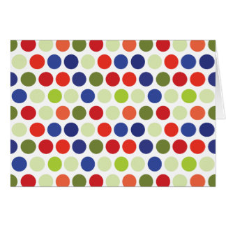 Fun Red Blue Green Polka Dot Pattern Stationery Note Card