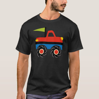 Fun Red Blue Monster Truck Shirts