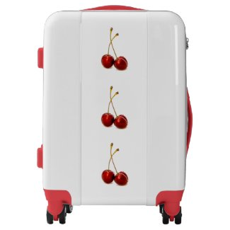 Red Cherries Design Suitcase