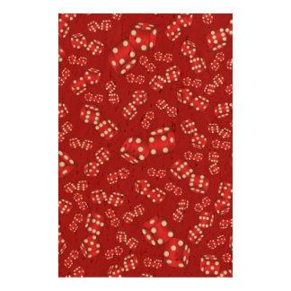 Fun red dice pattern cork paper