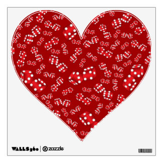 Fun red dice pattern wall decals