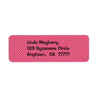 Fun Red Dots Address Label