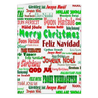 Merry christmas many languages gifts on zazzle for Green in different languages