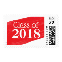 Fun Red Oil Painting Graduation Design Postage