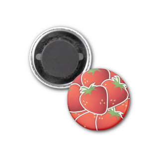 Fun Red Strawberry Fruit Design Fridge Magnets
