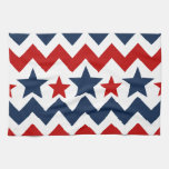 Fun Red White Blue Chevron Stars and Stripes Kitchen Towel