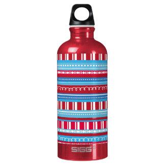 Fun Red White Blue Stripes USA SIGG Traveler 0.6L Water Bottle