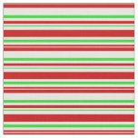 [ Thumbnail: Fun Red, White, Green Colored Christmas-Inspired Fabric ]